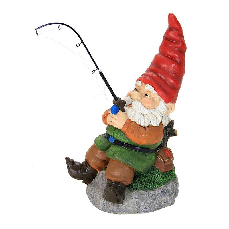 Exhart Fishing Gnome Amp Reviews Wayfair