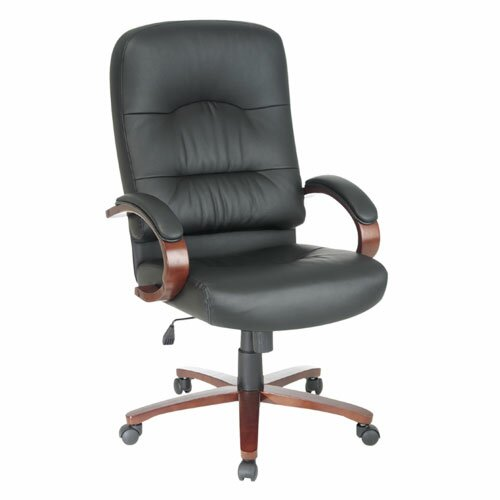Lorell Woodbridge Series High Back Leather Executive Chair Wayfair