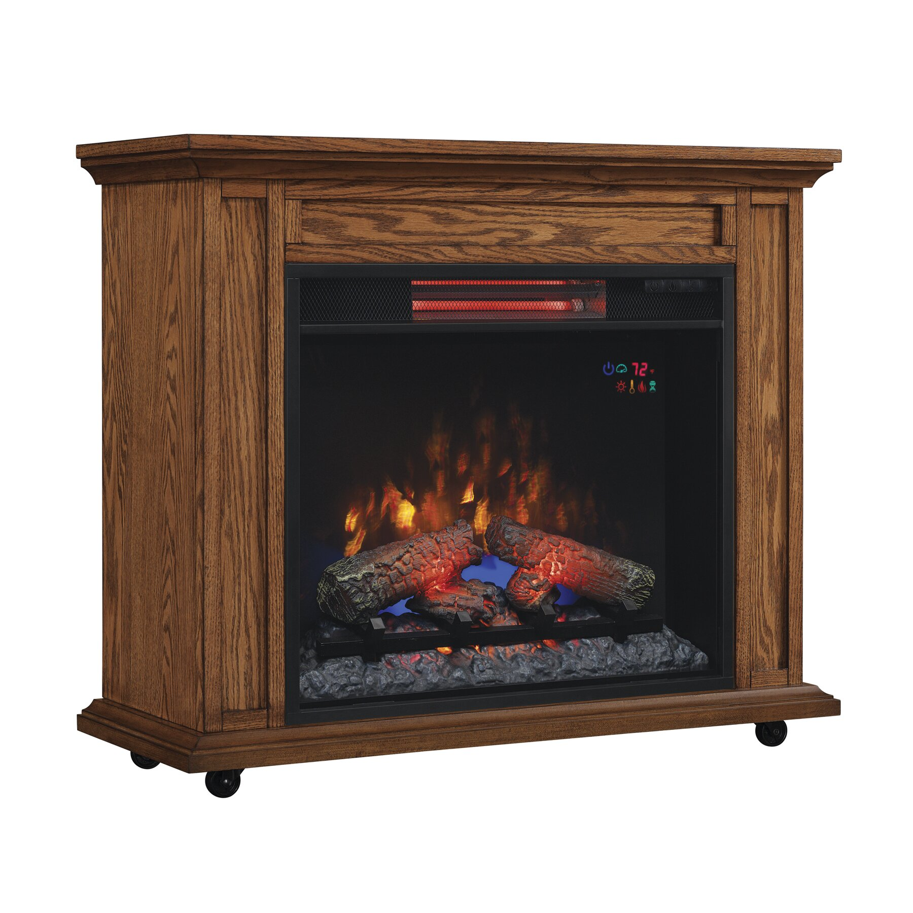 Duraflame Rolling Mantel With Infrared Quartz Electric Fireplace Reviews Wayfair