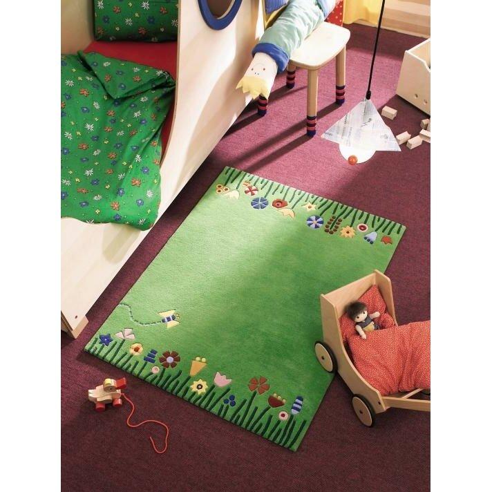 haba meadow green area rug reviews wayfair. Black Bedroom Furniture Sets. Home Design Ideas