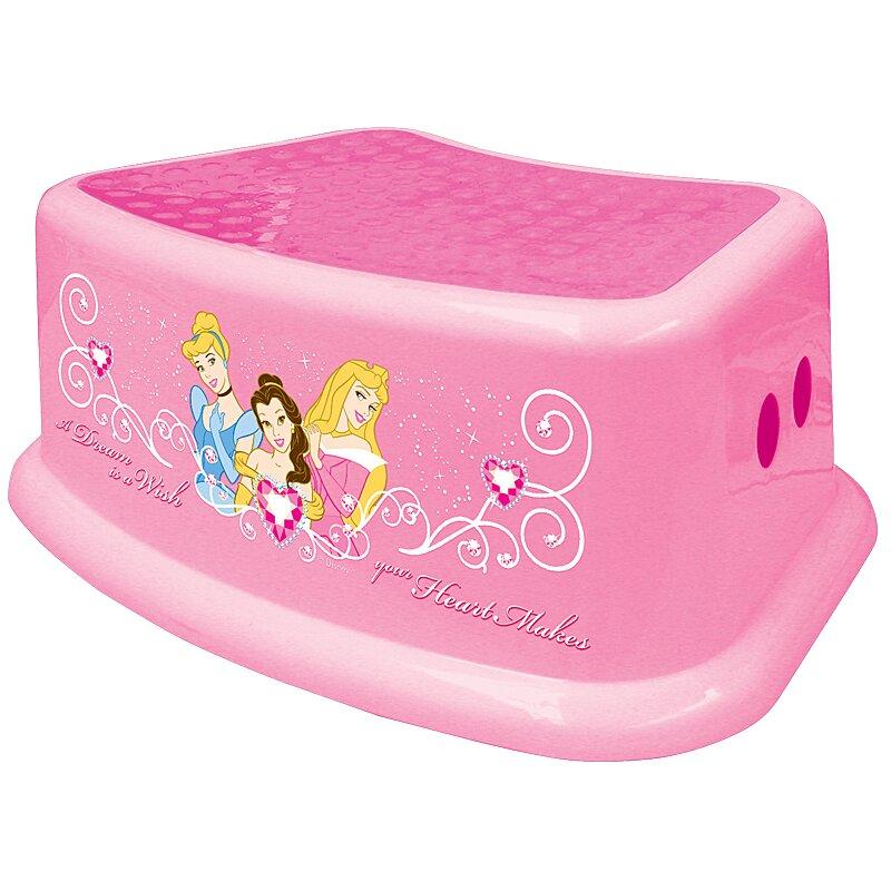 Ginsey 1 Step Plastic Disney Princess Step Stool With 200