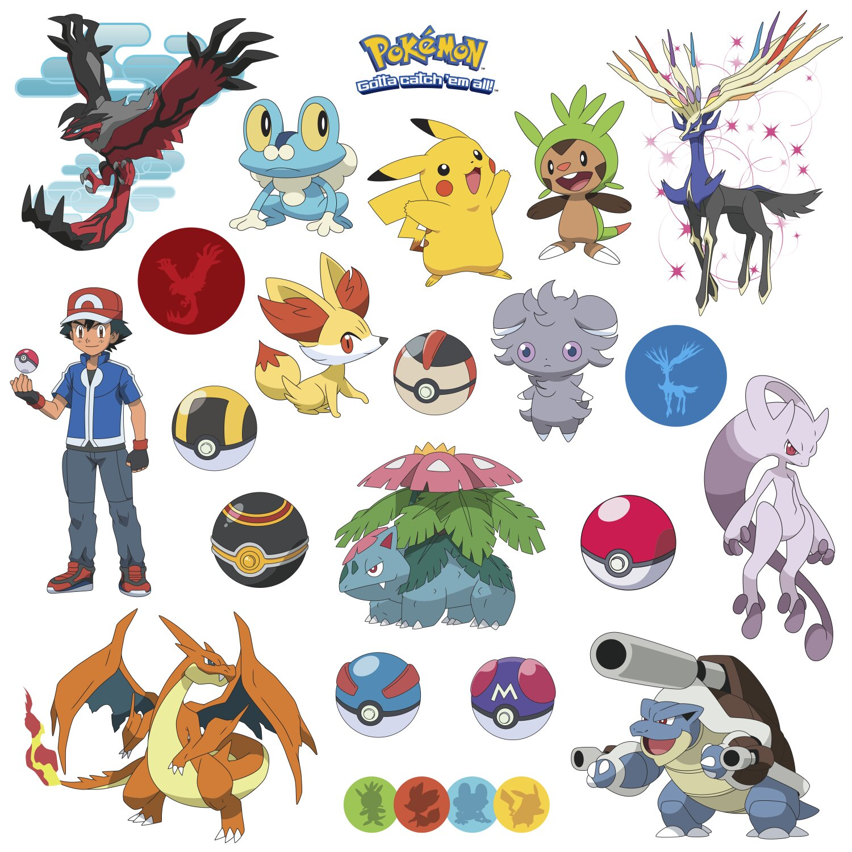 Room Mates Popular Characters Pokemon Xy Wall Decal
