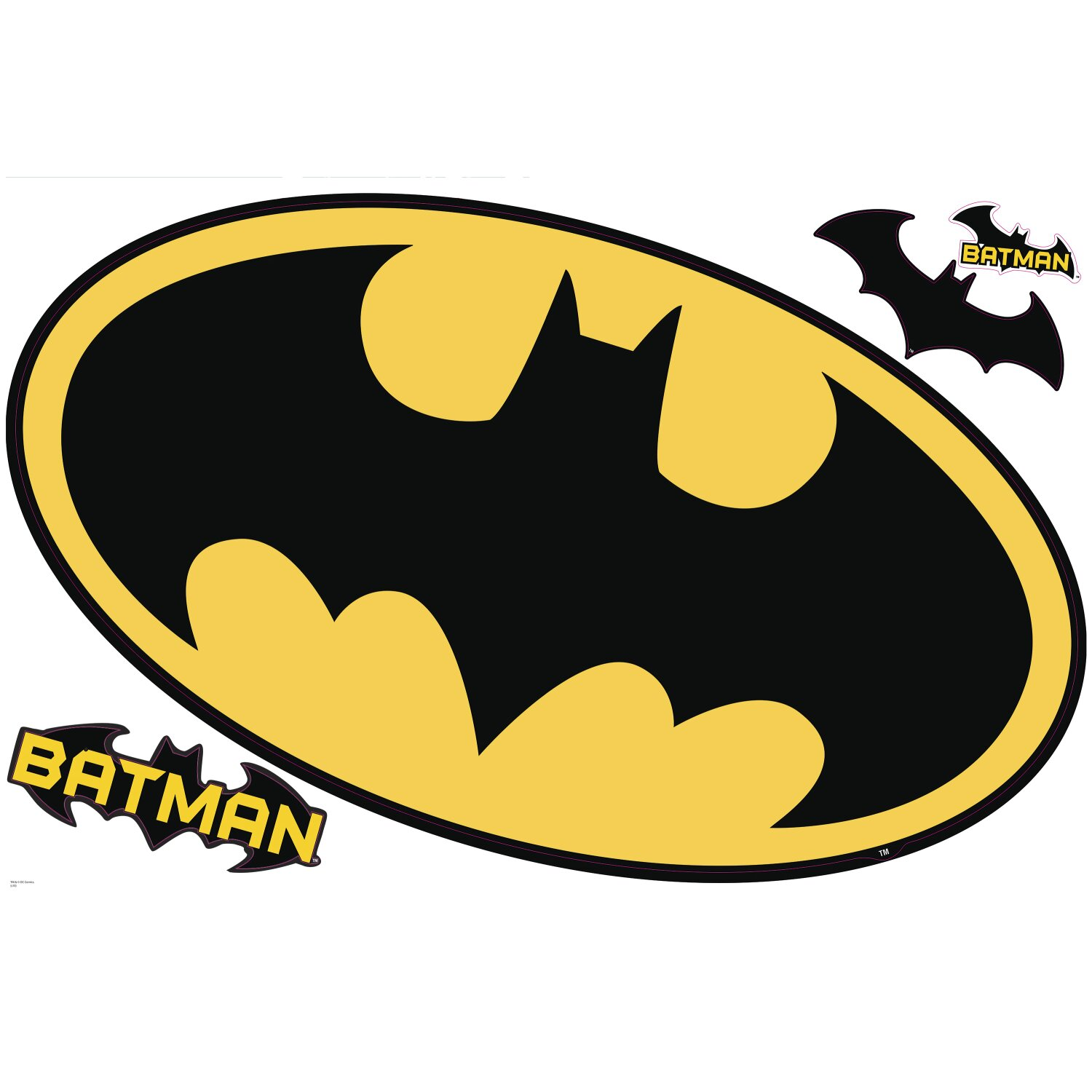 Nursery Wall Stickers Next Room Mates Popular Characters Batman Logo Dry Erase Wall