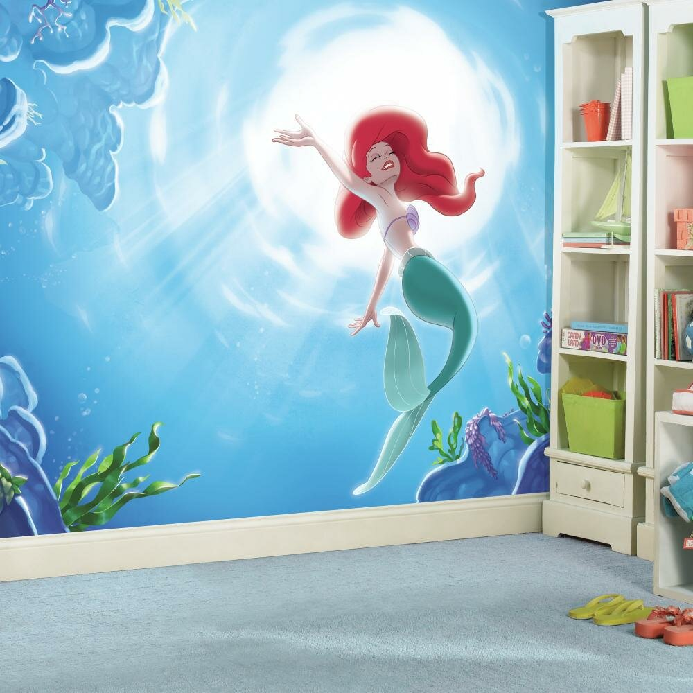 Room mates disney princess the little mermaid part of for Disney princess mural asda