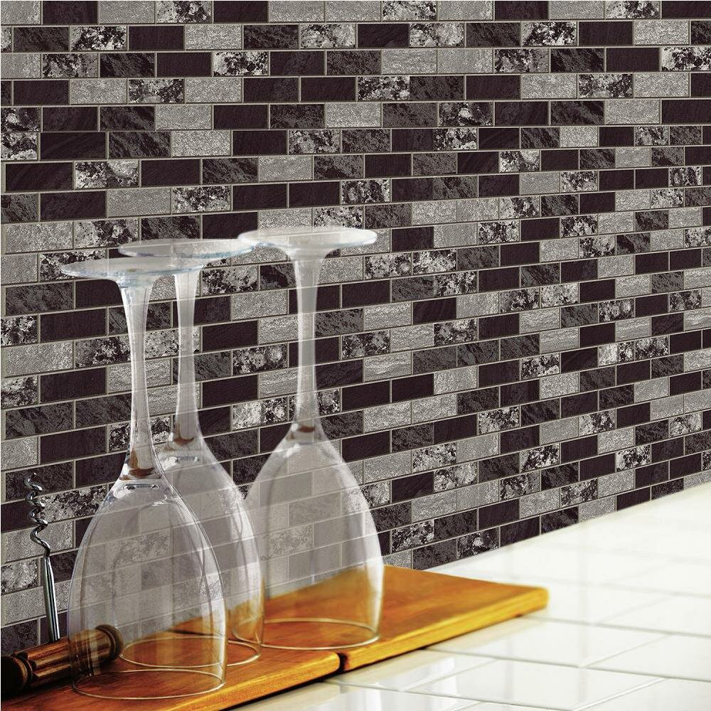 Room mates peel stick tiles reviews wayfair - Carrelage mural adhesif ...