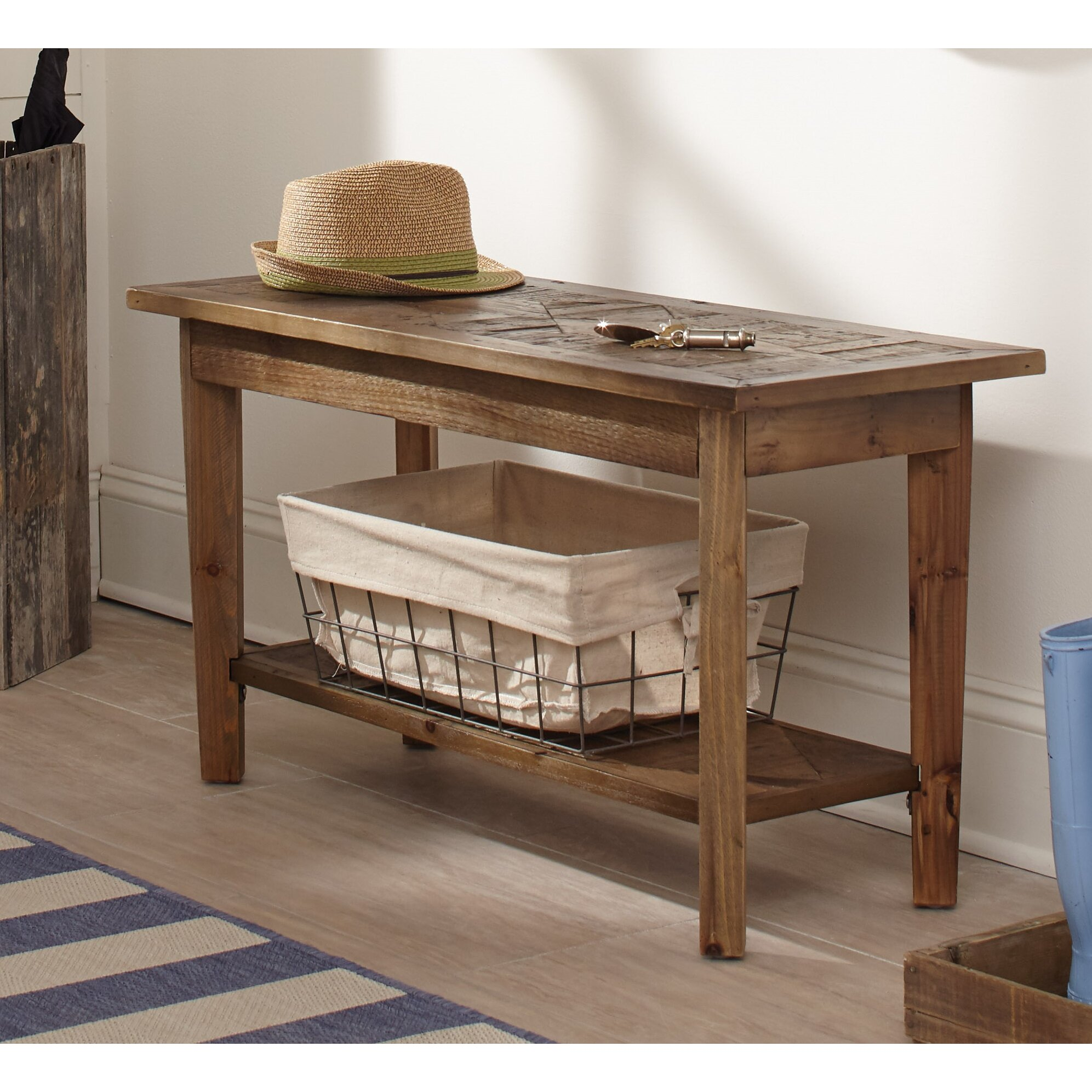 Foyer Seating Year : Alaterre renewal reclaimed wood entryway bench reviews