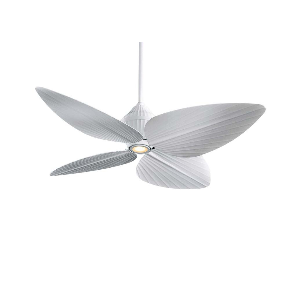 "Tropical Outdoor Ceiling Fan: Minka Aire 52"" Gauguin Tropical 4 Blade Indoor / Outdoor"