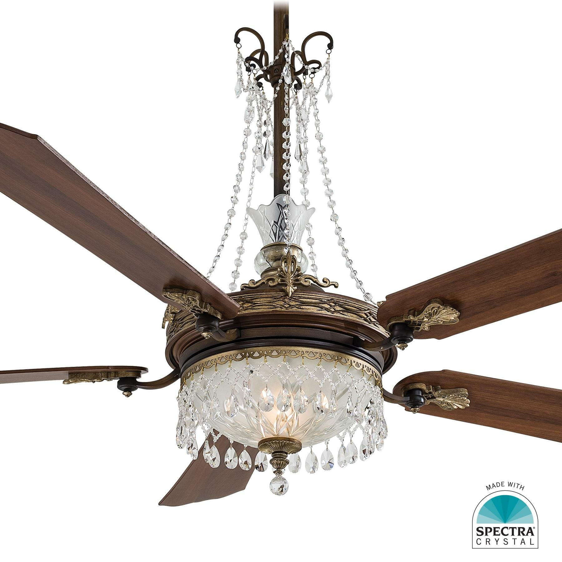 Ceiling Fan With Chandelier Light: Minka Aire Crystal Draping Set For Cristafano Chandelier