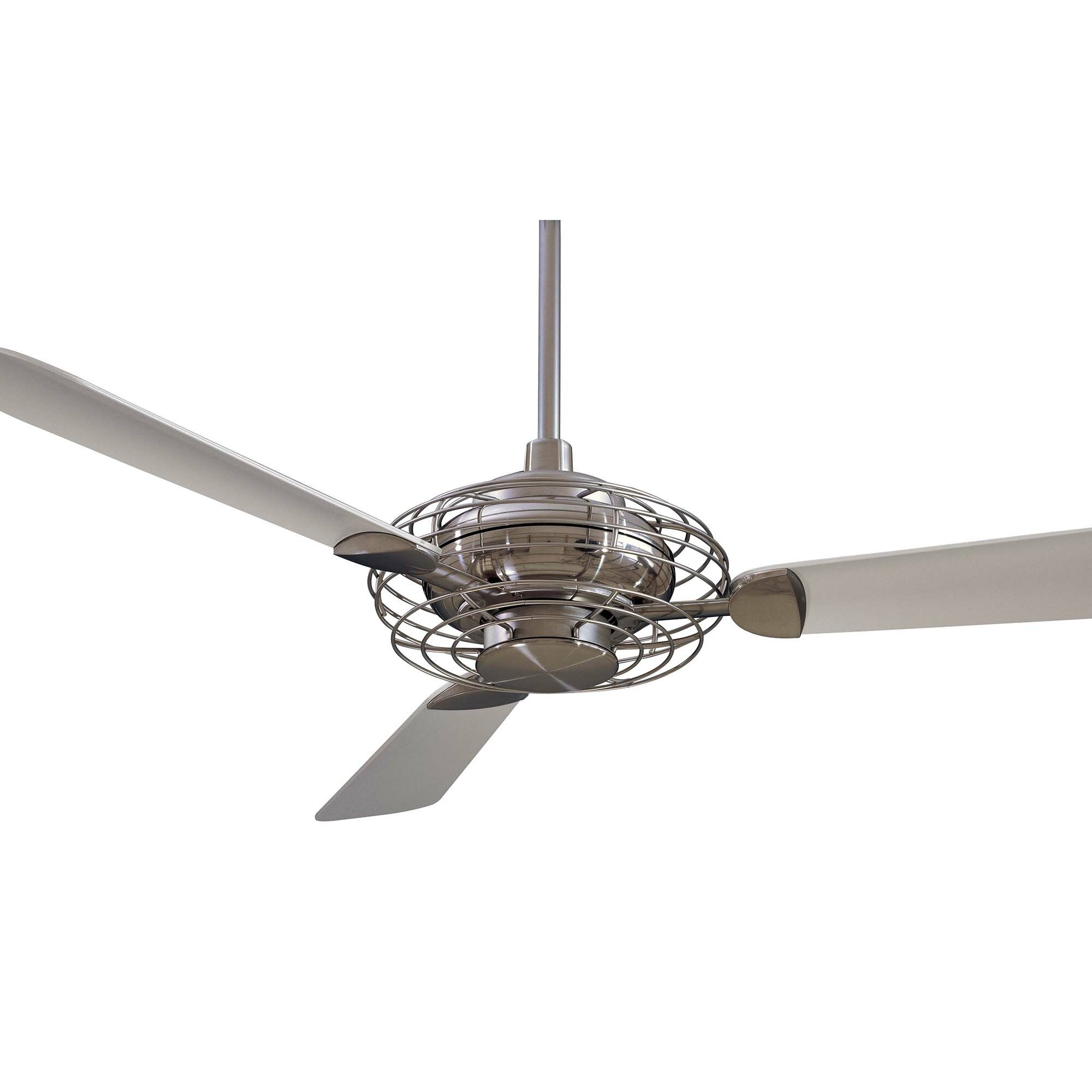minka aire 52 acero retro 3 blade ceiling fan reviews wayfair. Black Bedroom Furniture Sets. Home Design Ideas