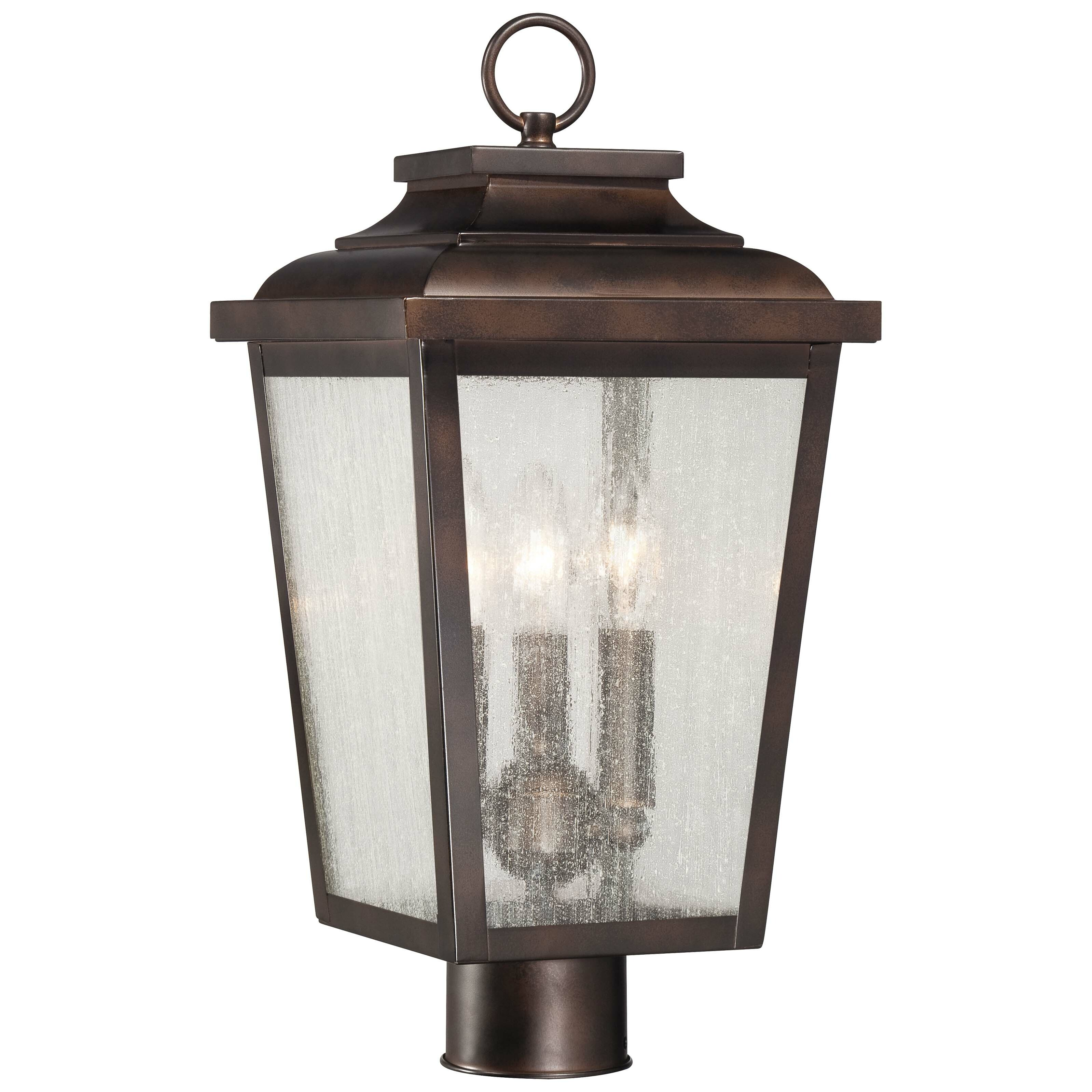 Minka Lavery Irvington Manor 3 Light Outdoor Post Light