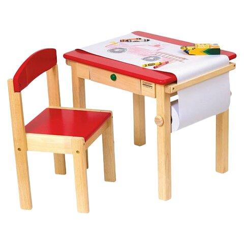 Guidecraft Children s 2 Piece Rectangular Table and Chair