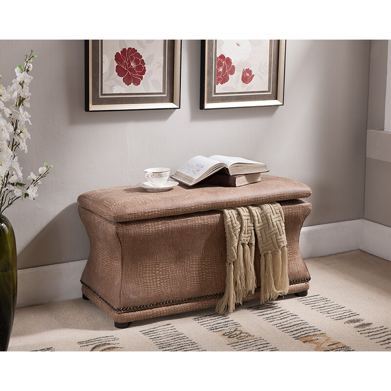 Inroom designs upholstered storage bench reviews wayfair In room designs