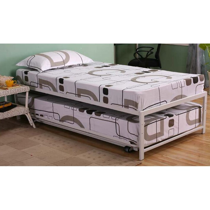 Inroom designs twin platform customizable bedroom set Bedroom furniture high riser bed frame