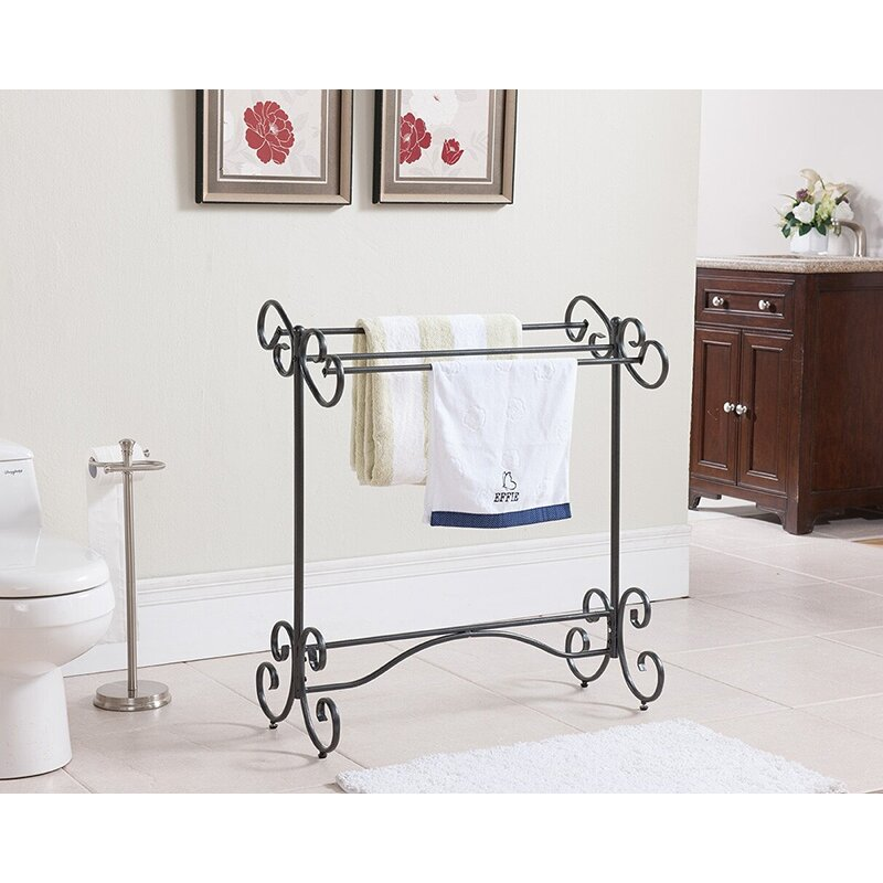 Inroom designs free standing towel rack reviews wayfair In room designs