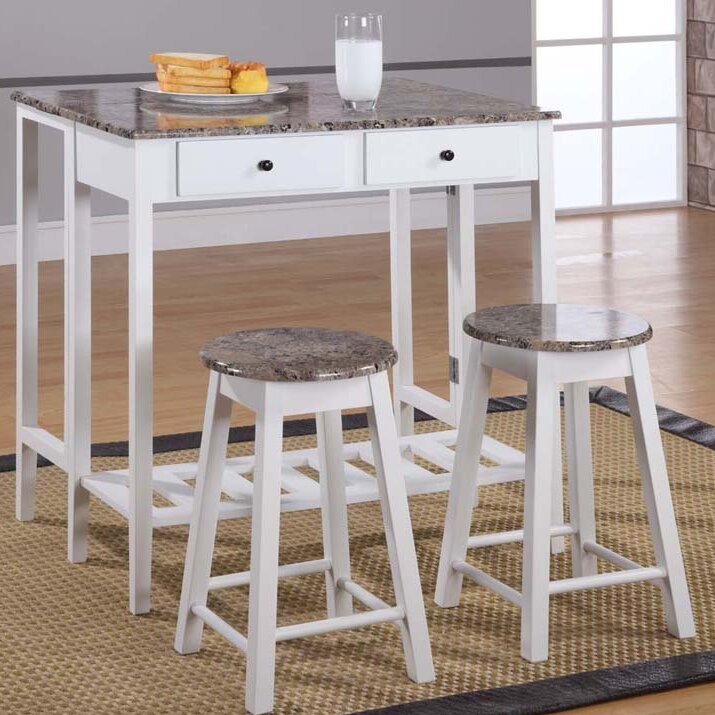 One Dining Room Three Different Ways: InRoom Designs Breakfast 3 Piece Dining Table Set