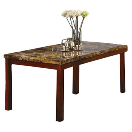 Inroom designs leg dining table reviews wayfair for Table leg designs