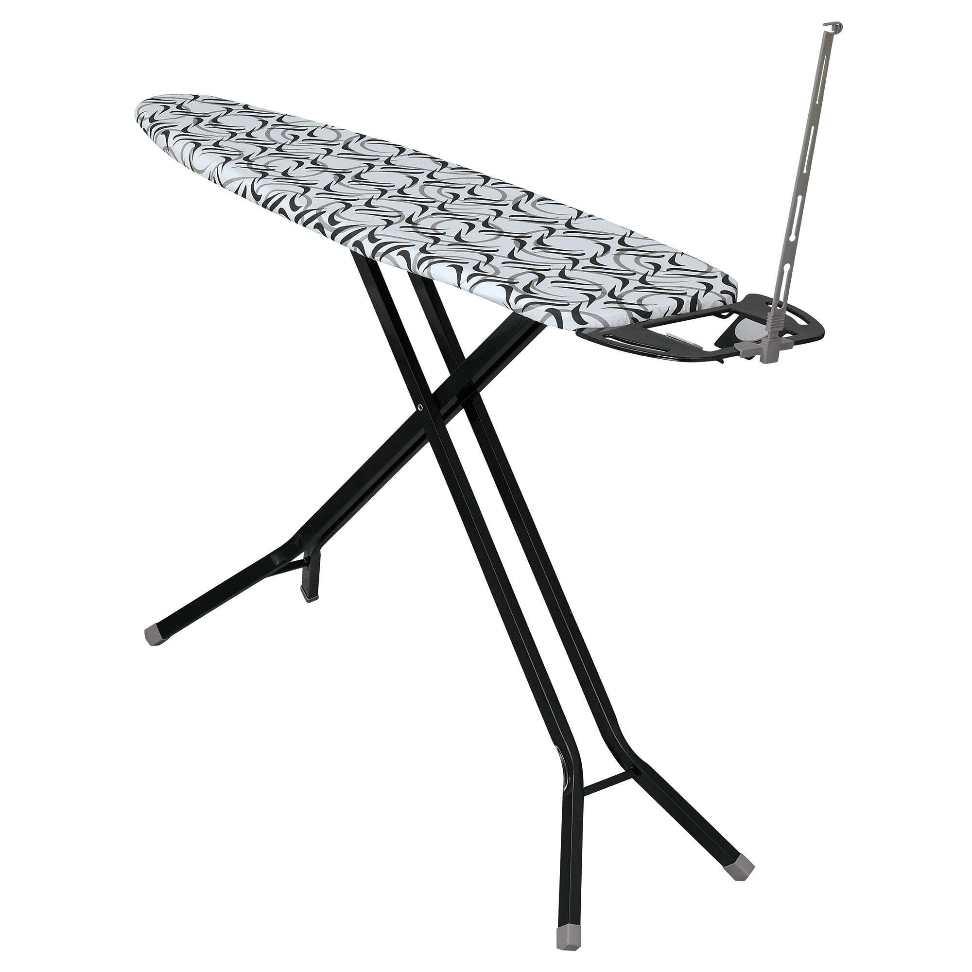household essentials deluxe 4 leg ironing board with iron. Black Bedroom Furniture Sets. Home Design Ideas