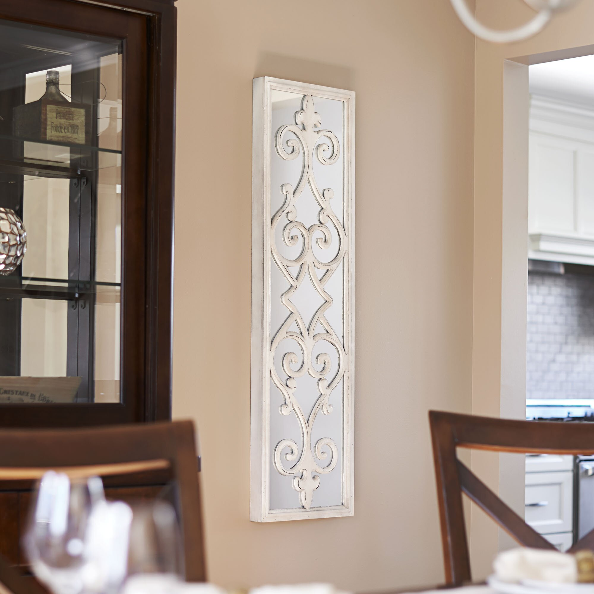 Household Essentials Framed Decorative Scroll Wall Mirror ... on Wall Mirrors Decorative id=76601