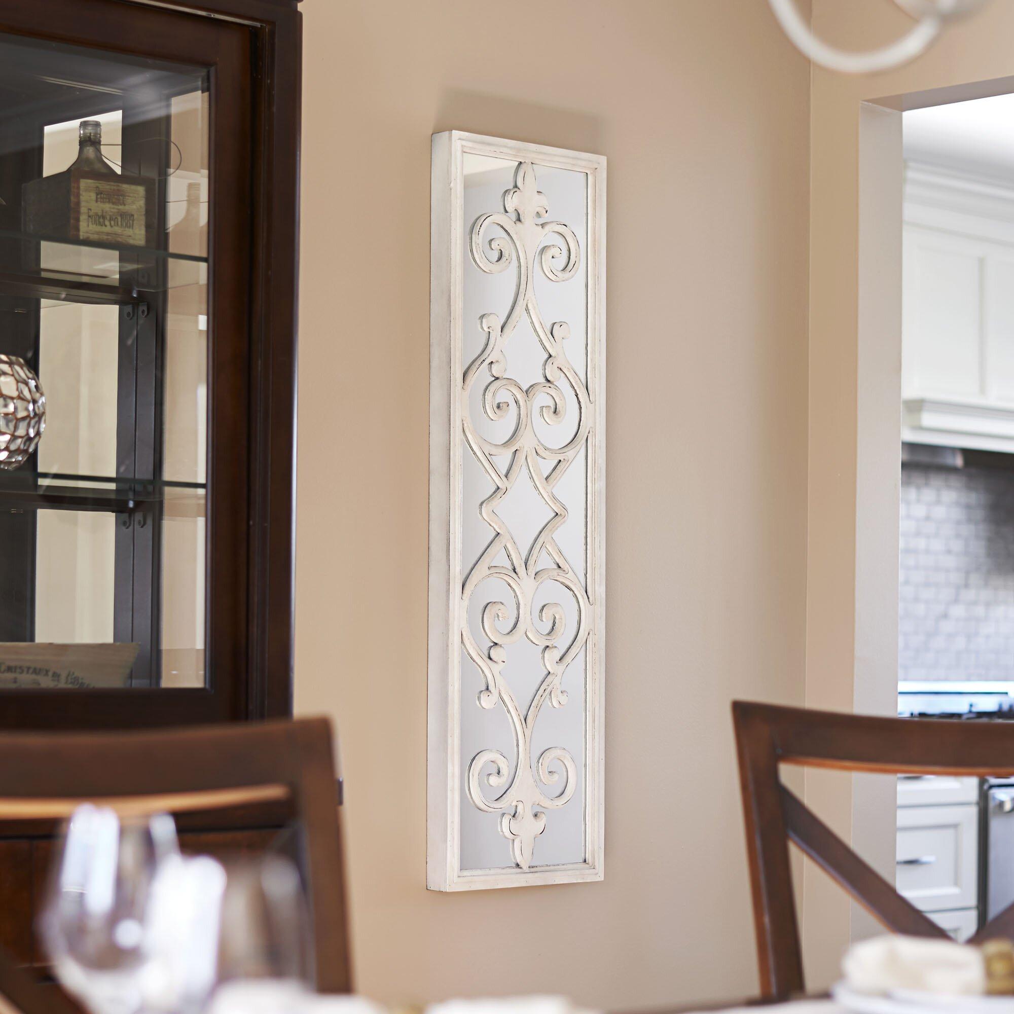 household essentials framed decorative scroll wall mirror reviews wayfair. Black Bedroom Furniture Sets. Home Design Ideas