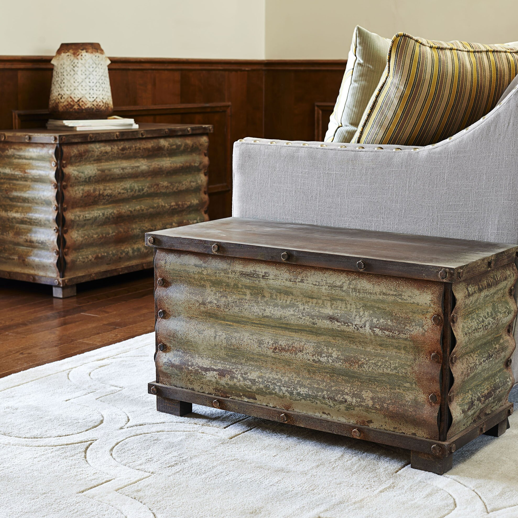 Household Essentials Corrugated Coffee Table Trunks
