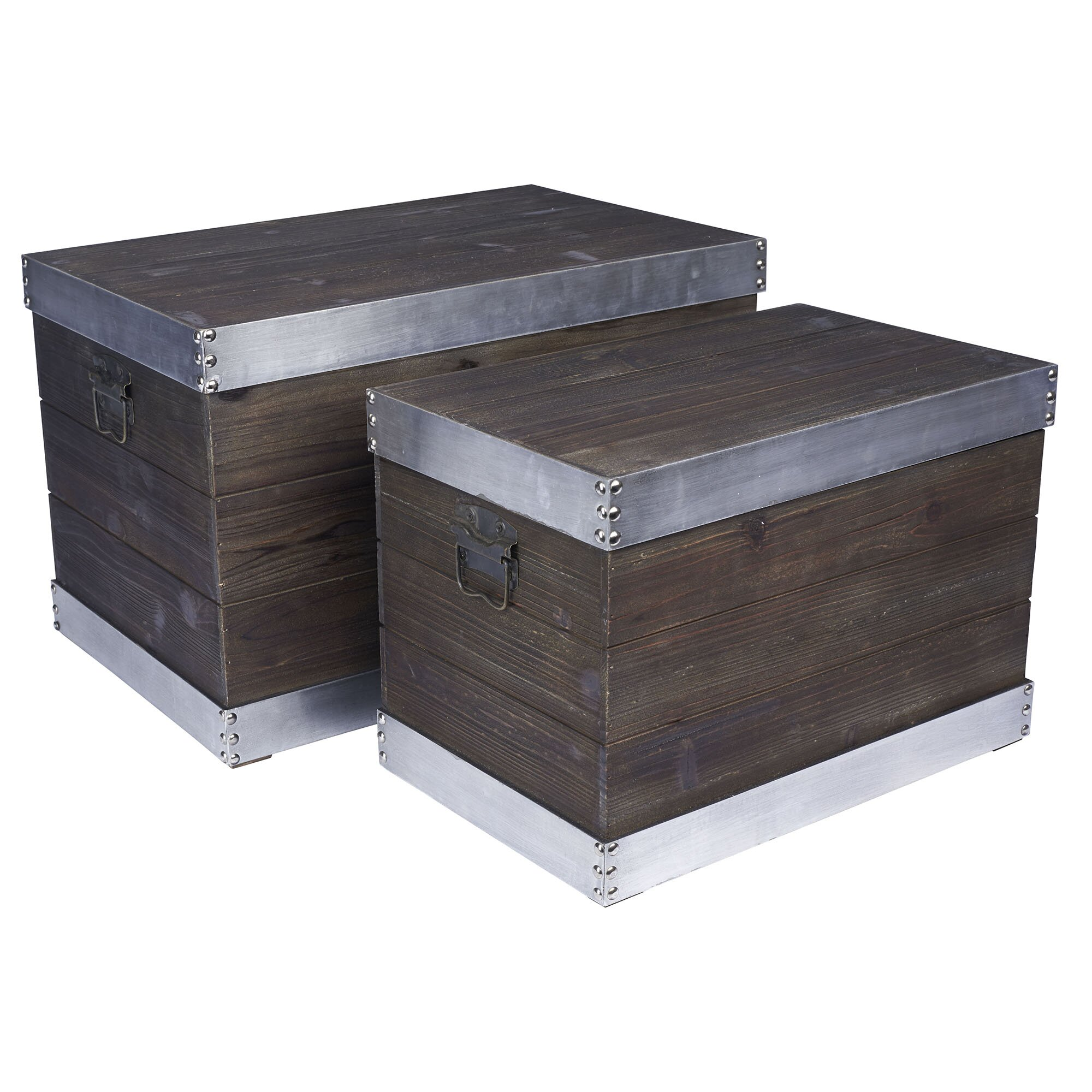 Decorative Boxes Storage: Household Essentials 2 Piece Decorative Storage Box Set