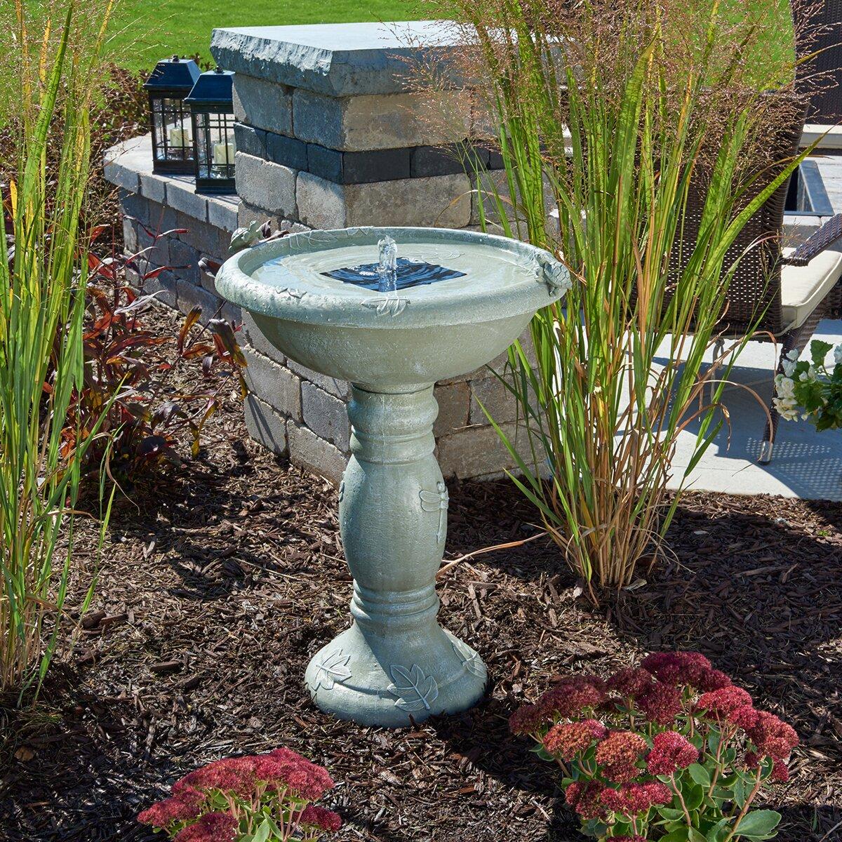 Smart Solar Country Gardens Solar Birdbath & Reviews