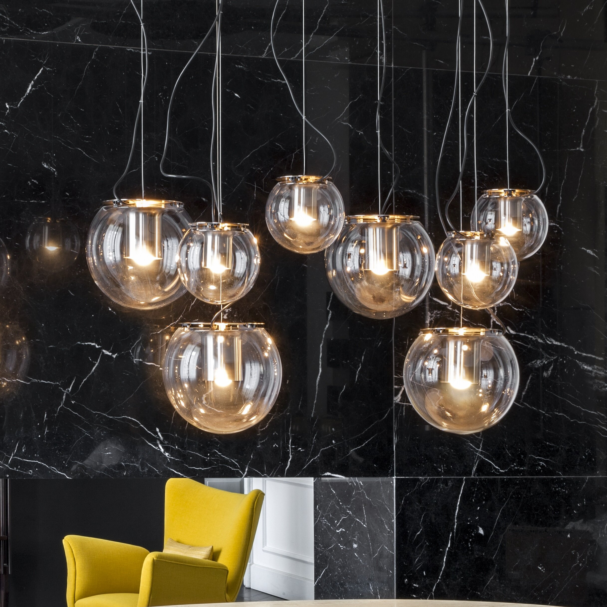 oluce globe 1 light pendant wayfair. Black Bedroom Furniture Sets. Home Design Ideas