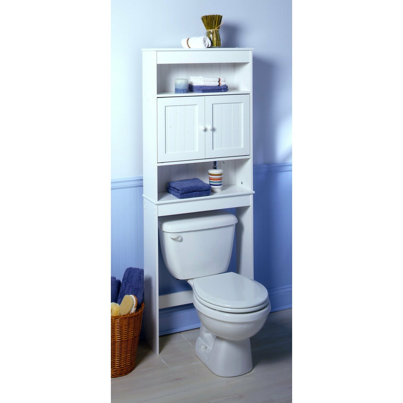 Zenith x 66 5 free standing over the toilet for Bathroom over the toilet shelf