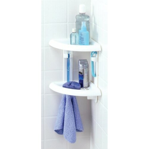Zenith Two Tier Corner Shower Caddy In White Amp Reviews