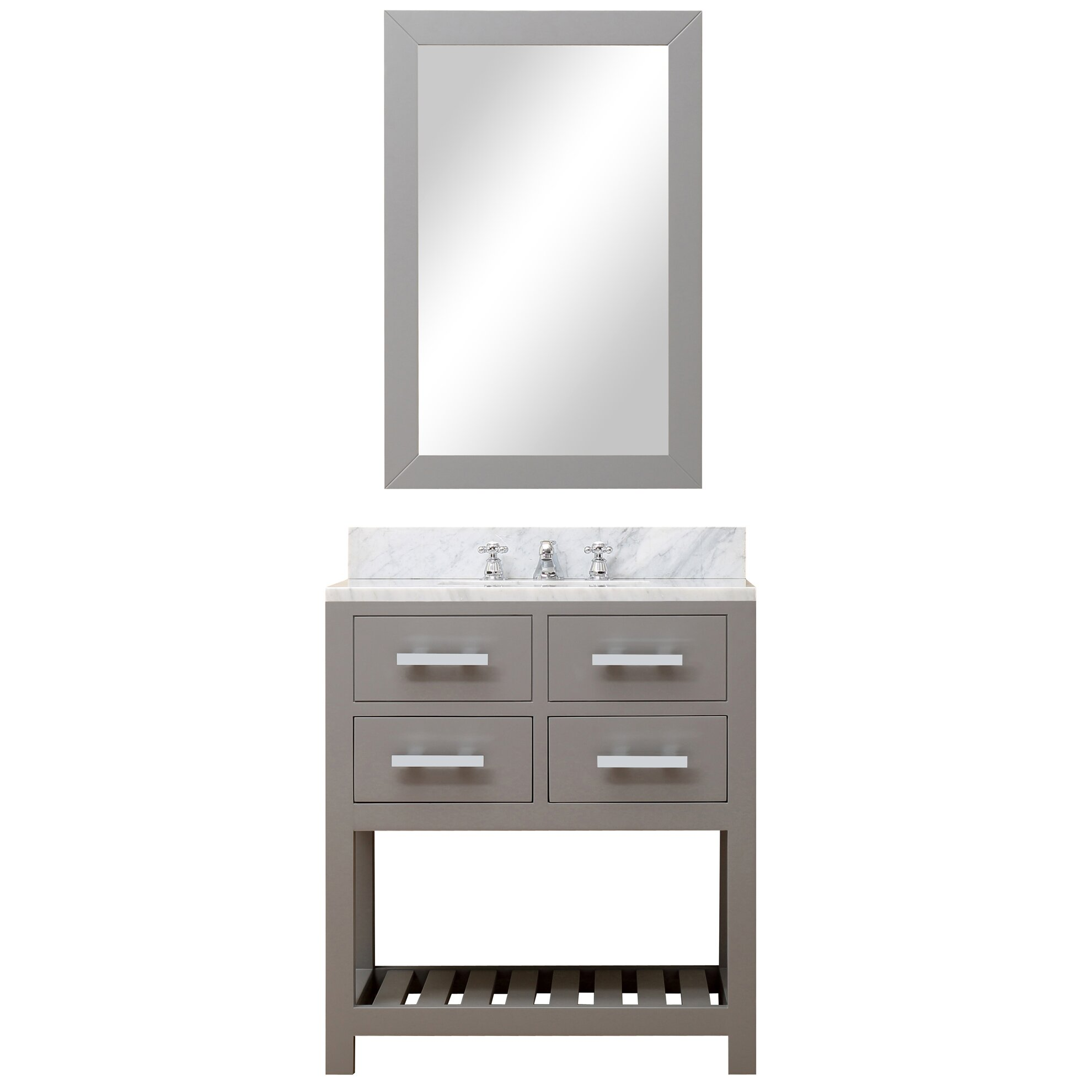 DCOR Design Creighton 30 Single Sink Bathroom Vanity Set With Mirror A