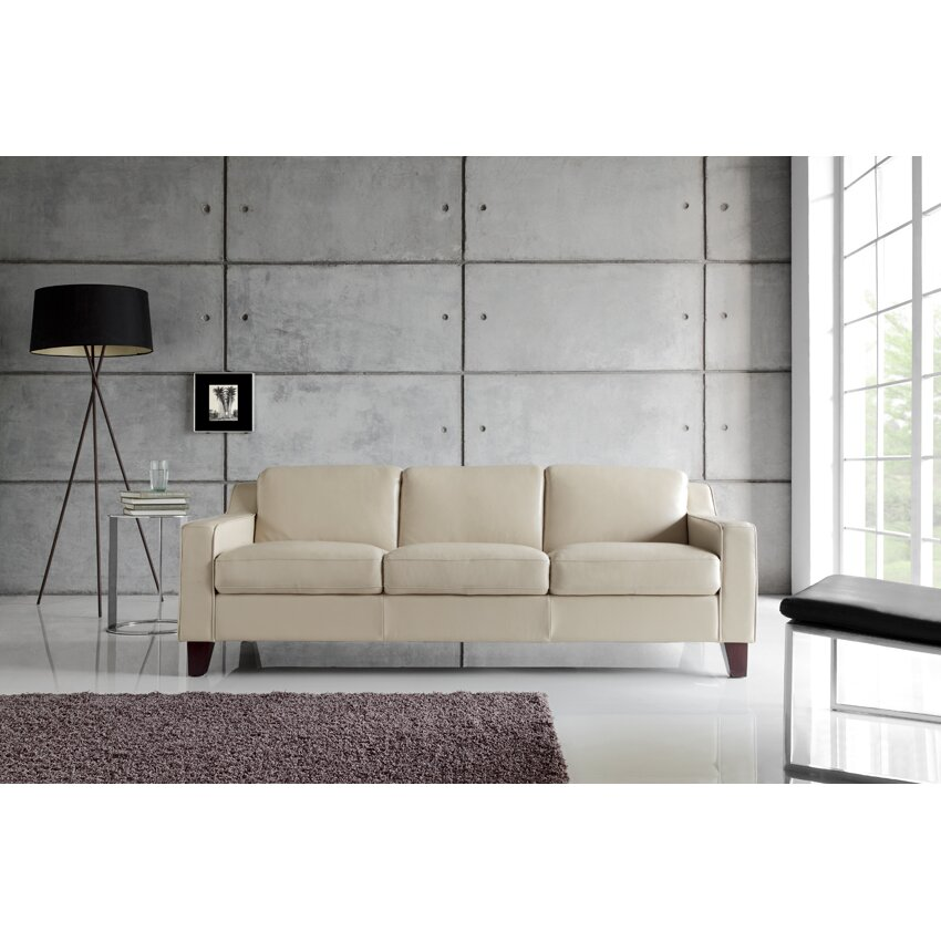 Full Grain Leather Sofas: Moroni Cora Full Top Grain Leather Sofa