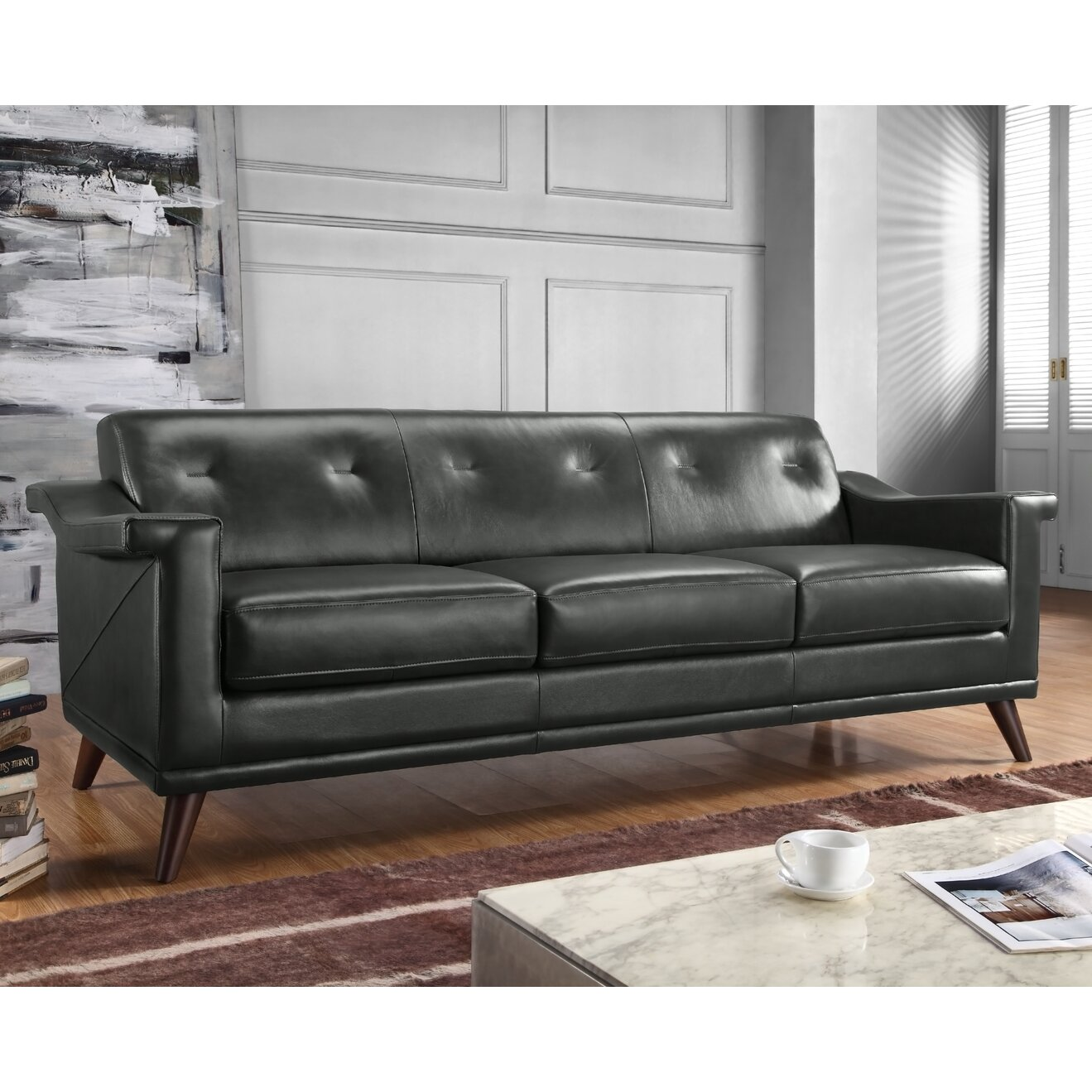 Full Grain Leather Sofas: Moroni Kak Full Top Grain Leather Sofa & Reviews