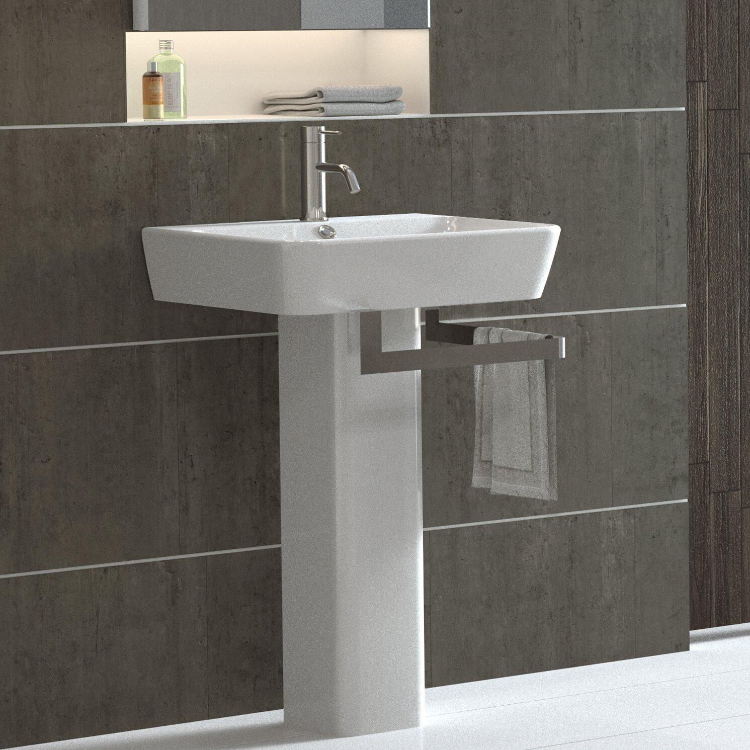 Bissonnet Emma Full Pedestal Overflow Bathroom Sink
