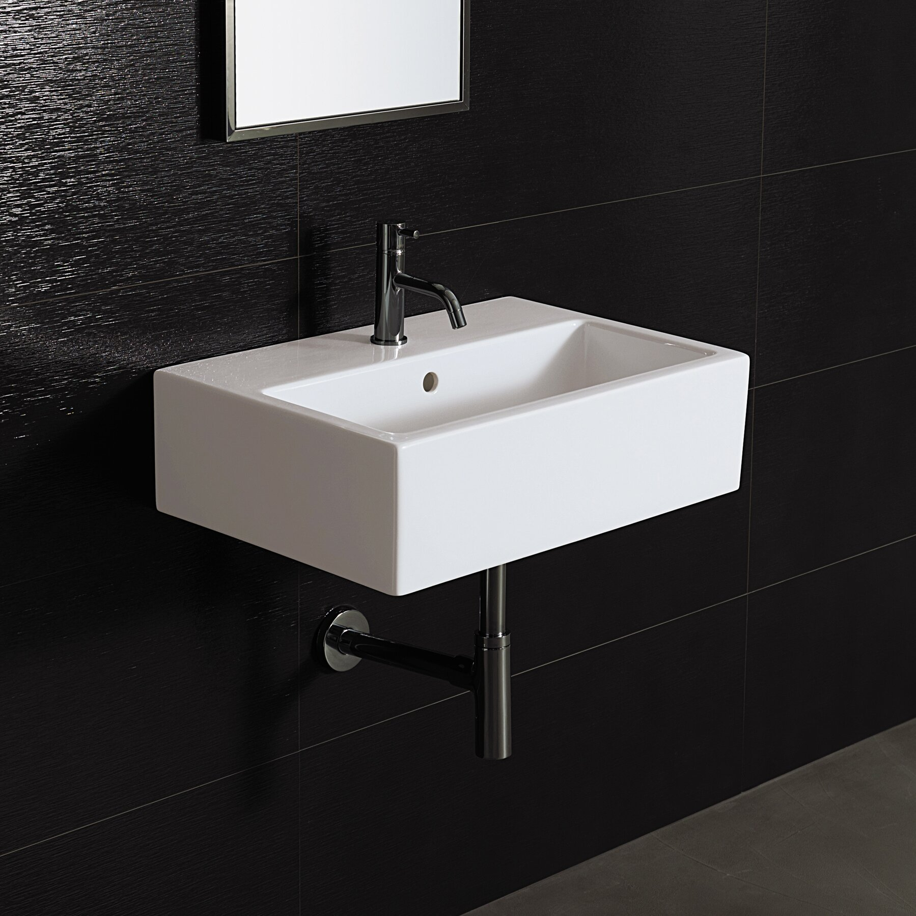 Bathroom Wall Stand : Bissonnet Area Boutique Wall Mount Bathroom Sink & Reviews Wayfair
