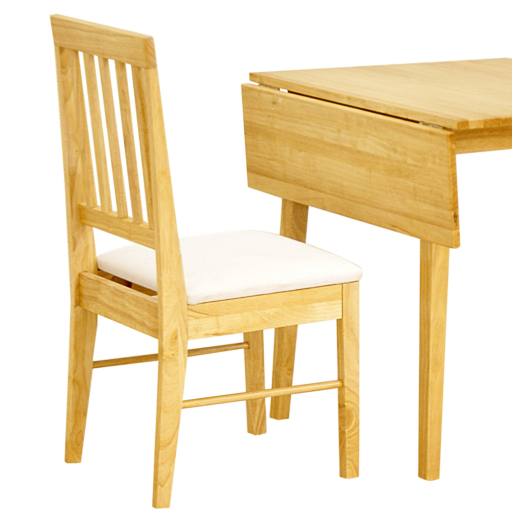 Heartlands Swiss Solid Rubberwood Upholstered Dining Chair ...