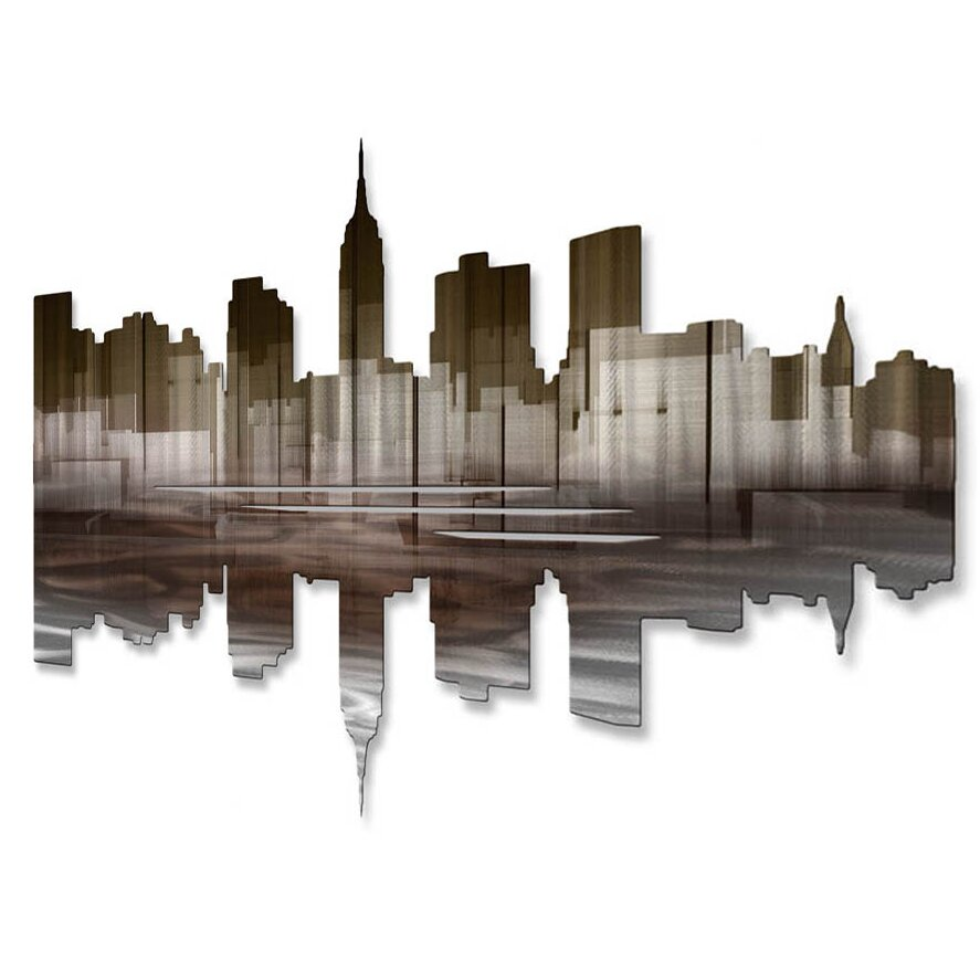 All my walls new york city reflection iii wall d cor for New york city decor