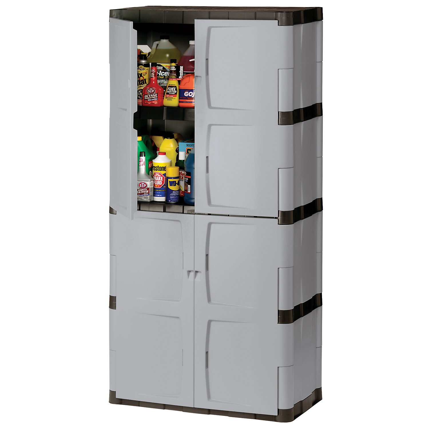 rubbermaid 72 h x 36 w x 18 d full double door cabinet