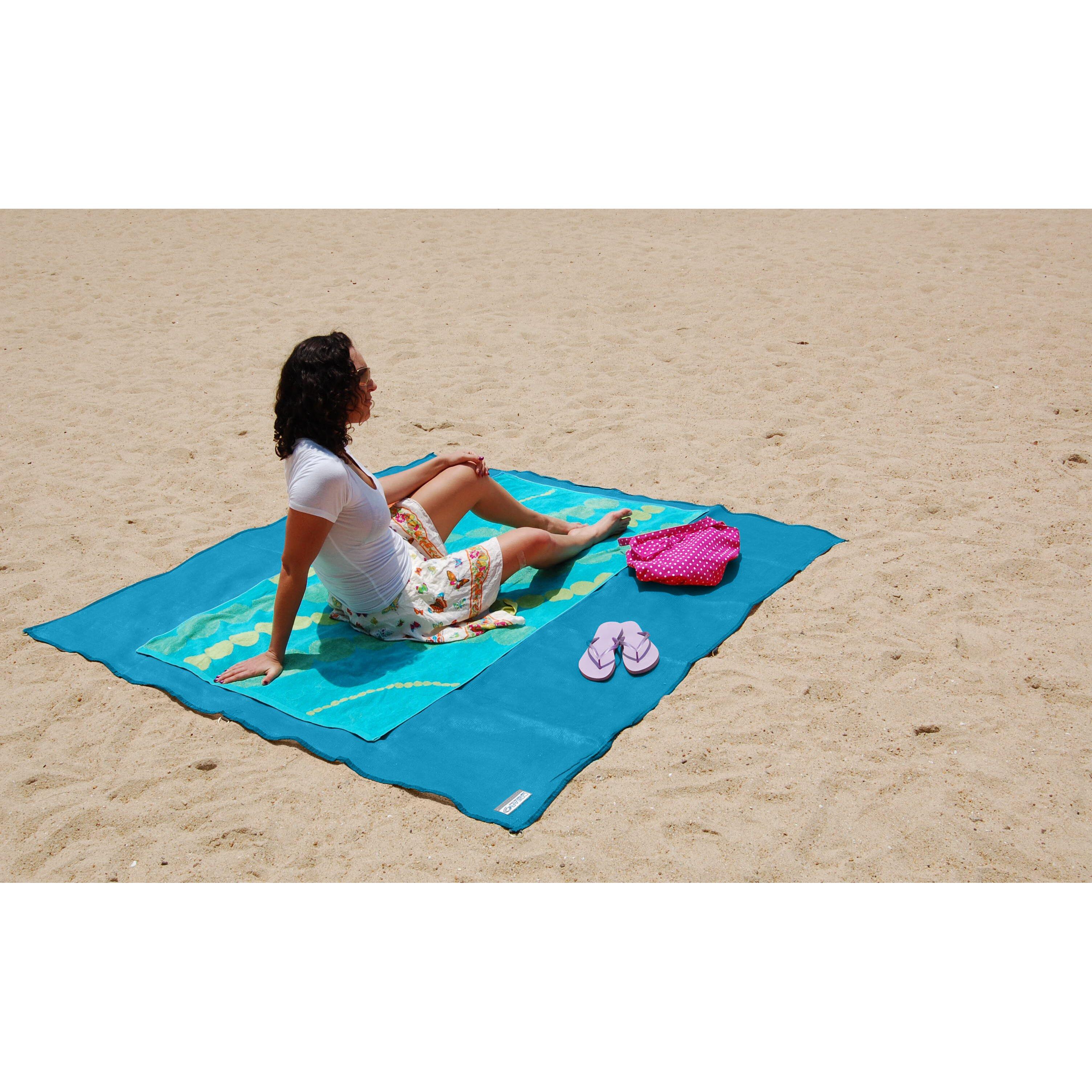 cgear sand free multimat cgear sand free mat blue green outdoor area rug reviews wayfair