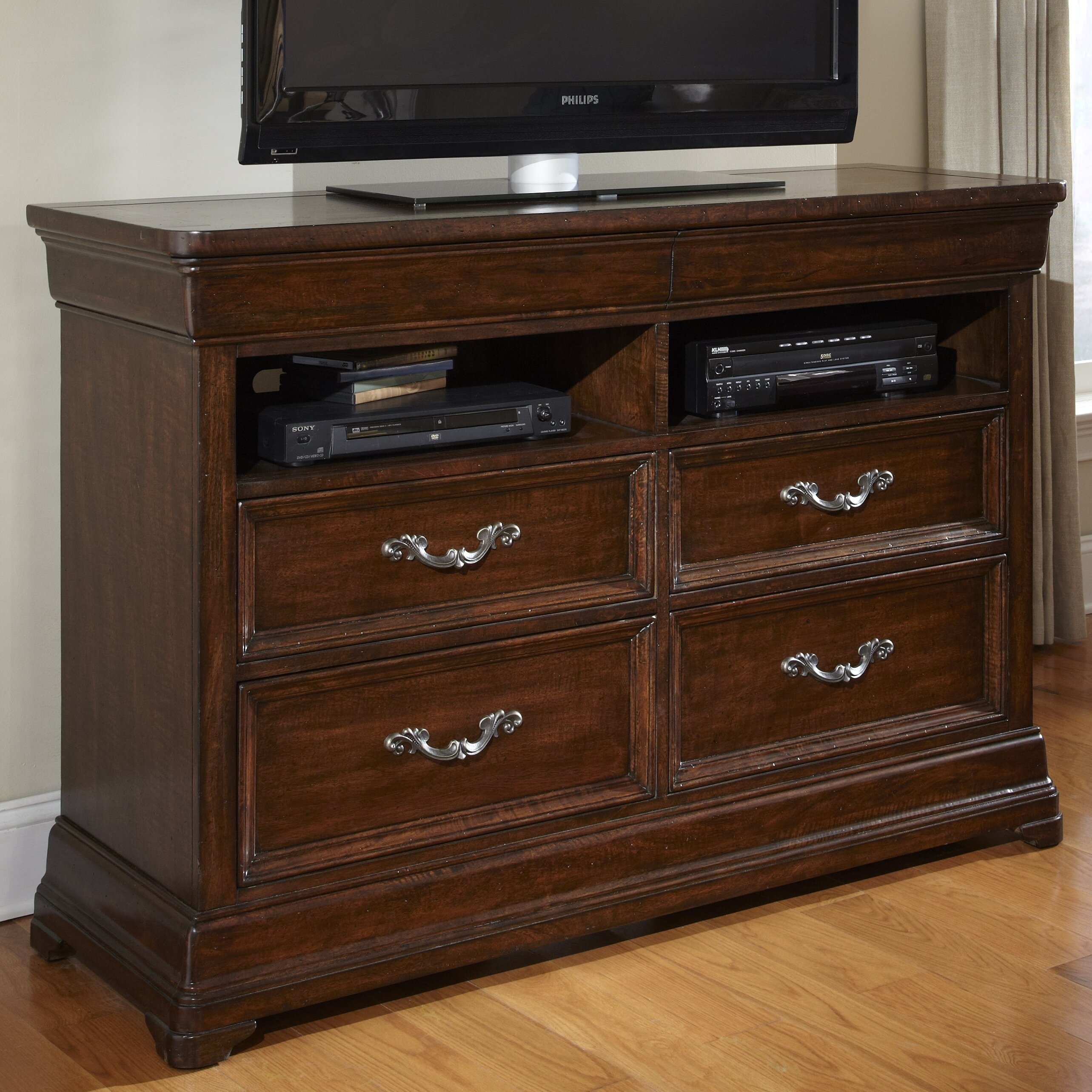 american woodcrafters signature 4 drawer media chest reviews wayfair. Black Bedroom Furniture Sets. Home Design Ideas