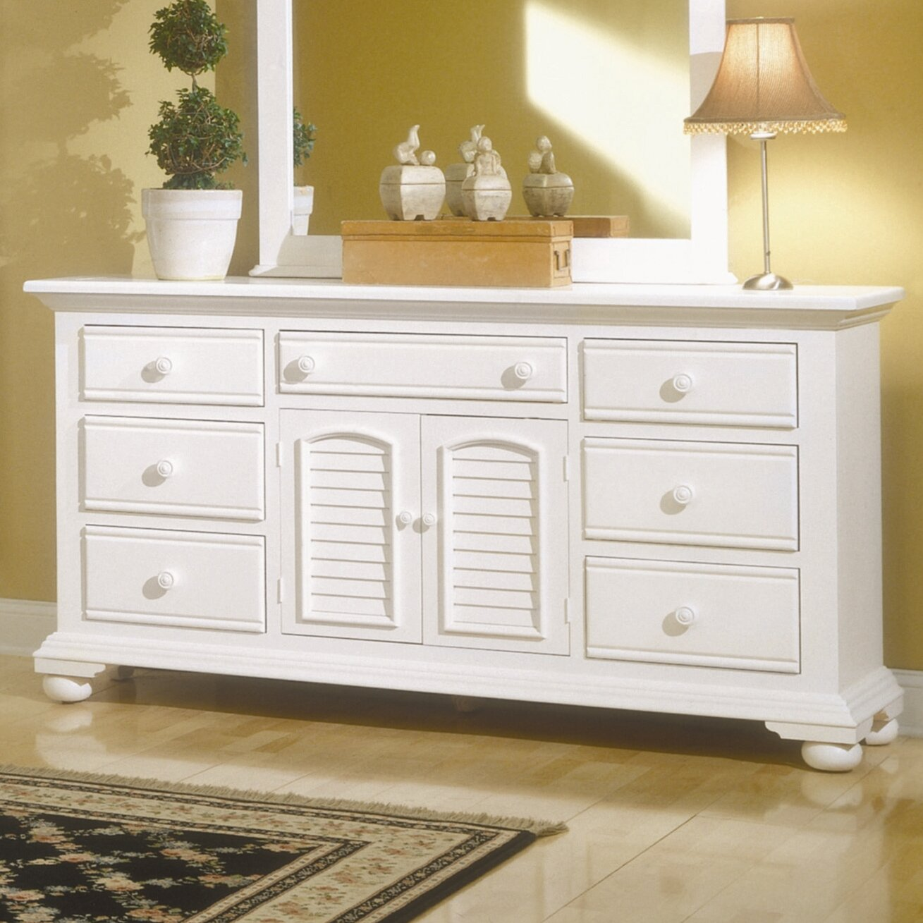 American woodcrafters cottage traditions triple 7 drawer for American woodcrafters bedroom furniture