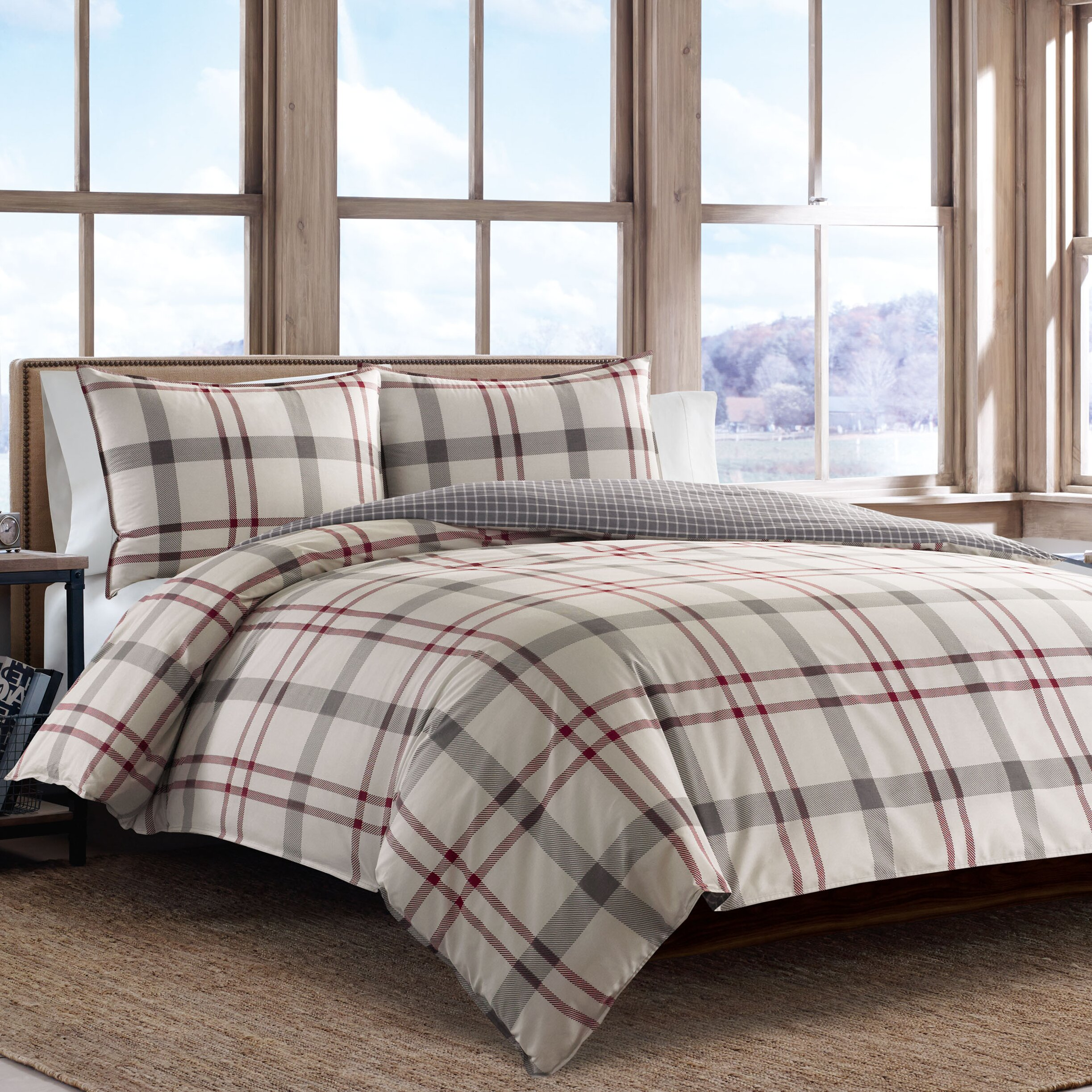 bedding down bauer alternative eddie sets pin classic less for bed comforter feature