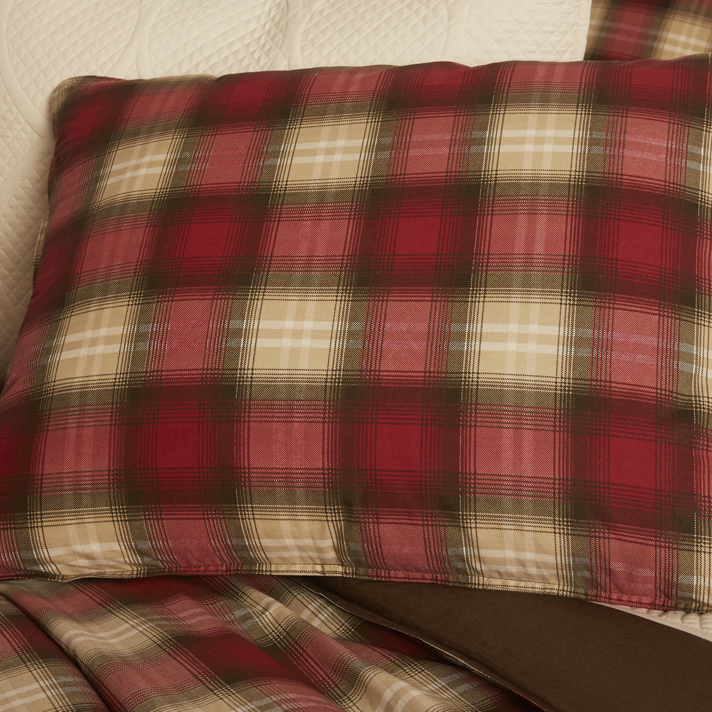 Twin Foam Mattress Eddie Bauer Navigation Plaid Reversible Comforter Set ...