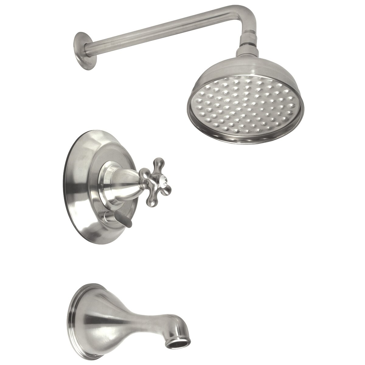 Belle Foret Diverter Tub Shower Faucet Trim Set With Cross Handle Wayfair