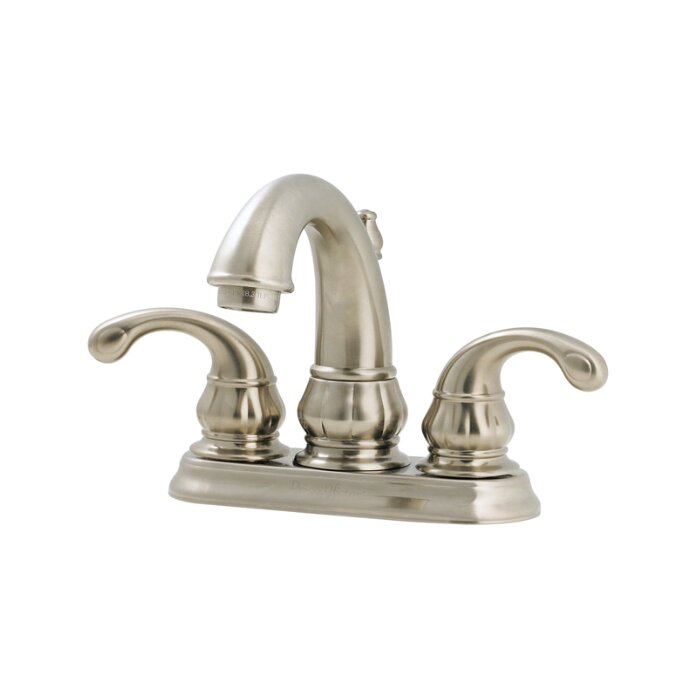 Pfister Treviso Double Handle Centerset Standard Bathroom Faucet With Drain A