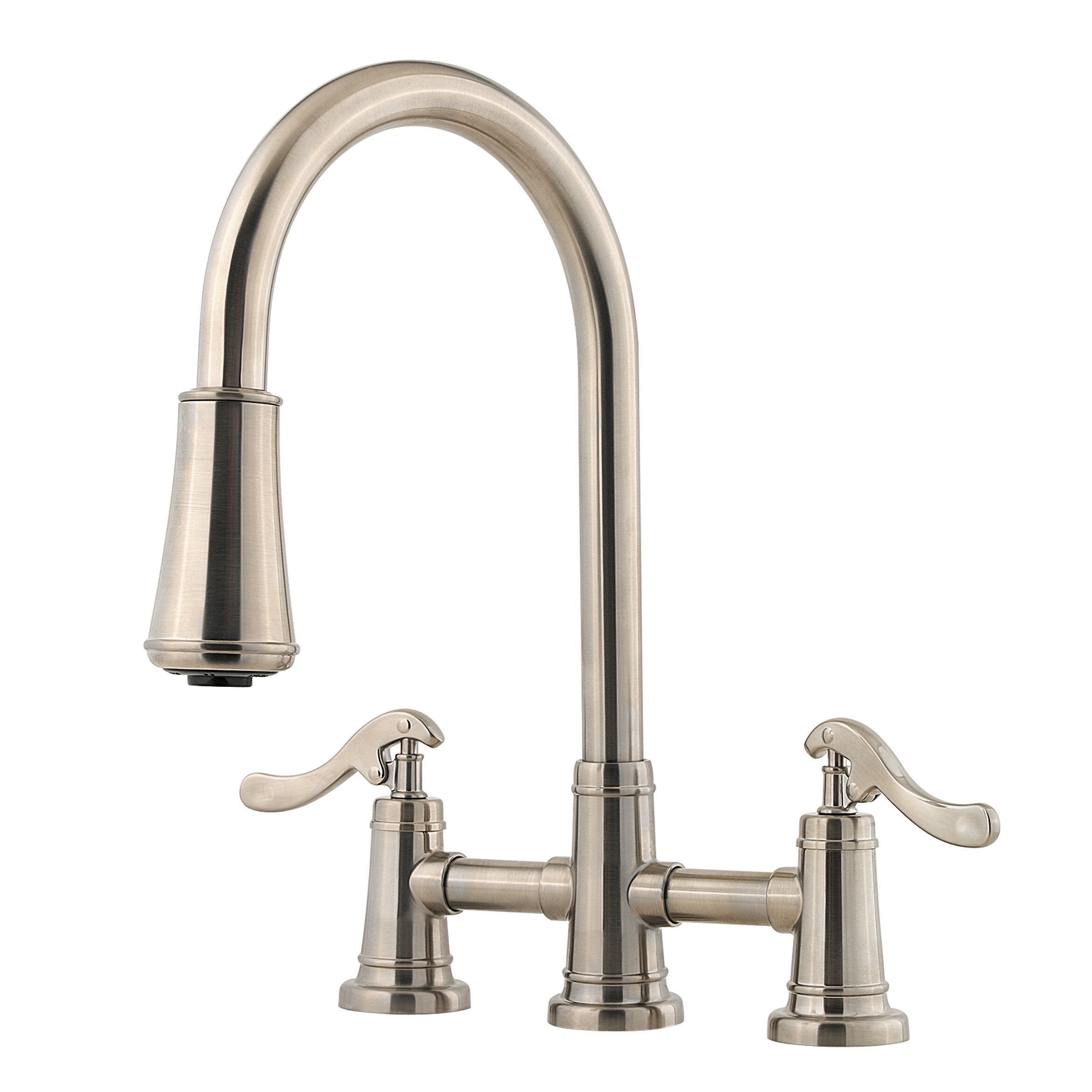 Pfister Ashfield Double Handle Deck Mounted Kitchen Faucet Reviews Wayfair