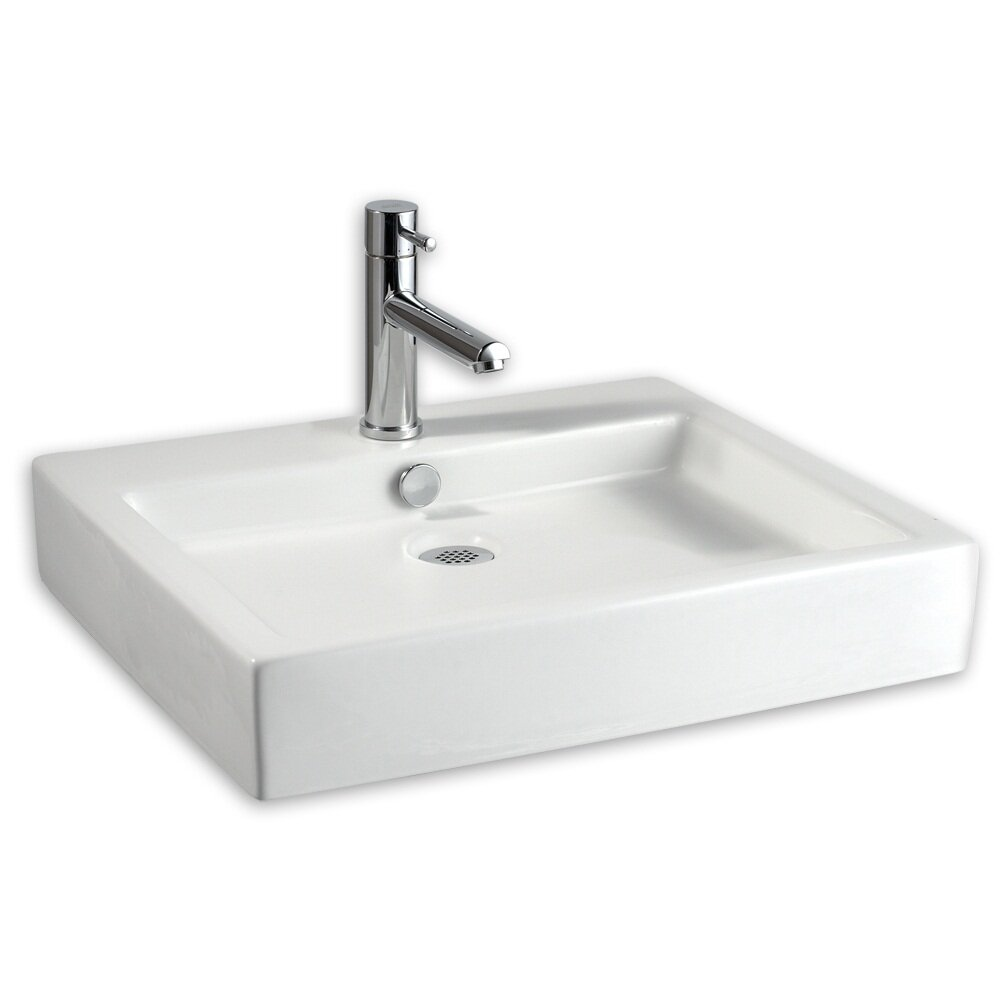American standard studio above counter rectangular for Bath toilet and sink