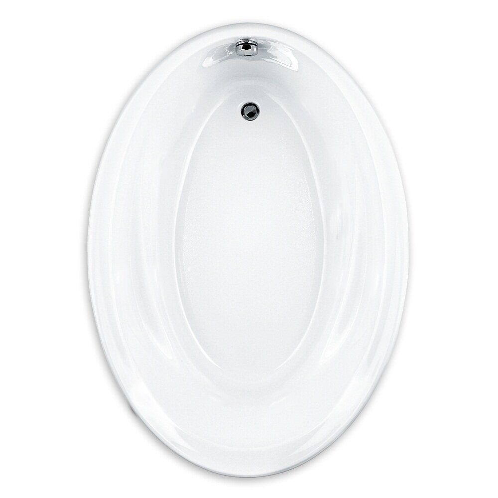 American standard savona 60 x 42 oval soaking bathtub for Oval tub sizes