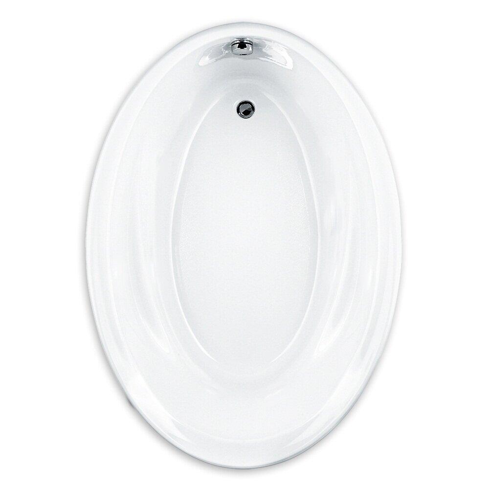 American standard savona 60 x 42 oval soaking bathtub for Oval tub sizes