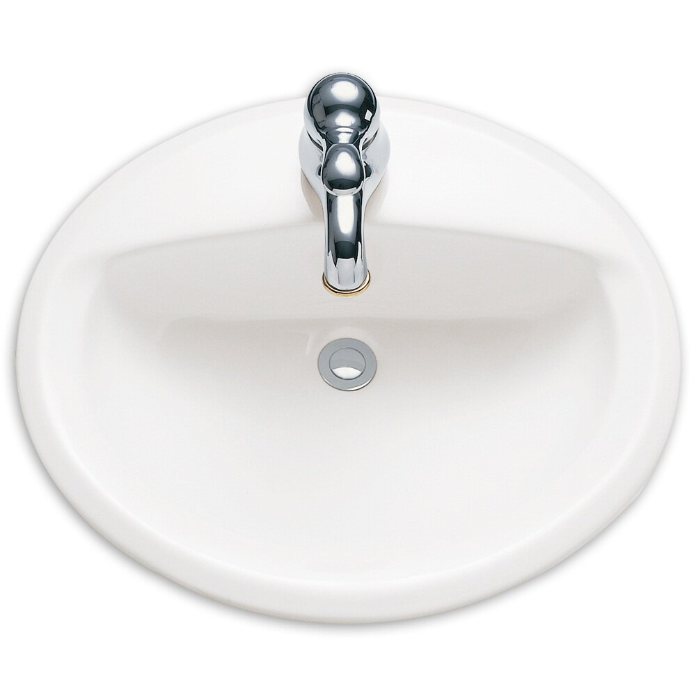 American Standard Aqualyn Countertop Bathroom Sink with Center and ...