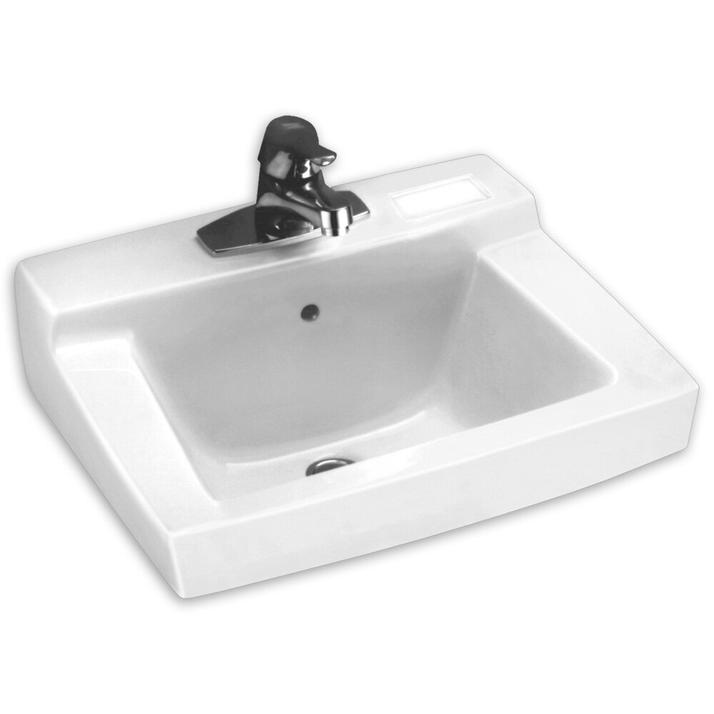 Commercial Wall Mount Sink : American Standard Declyn Wall Mount Bathroom Sink and Wall Hanger ...